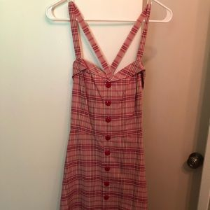 Ralph Lauren pink plaid dress size 2